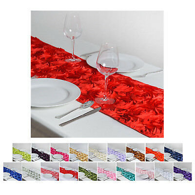 Wonderland Rosette Table Runners For Wedding Party Banquet Event Decoration
