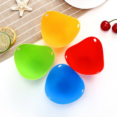 6X Egg Cooker Hard Boiled Eggs Shell Silicone Cups Egg Funny Cooking Cookware DE