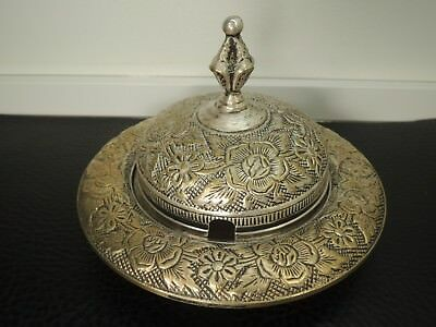 Antique silver plate sugar bowl  EIC LEAD FREE. EIC East India Company Colonial