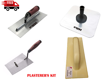 "Plasterers Kit 12"" Hawk, Finishing Trowel, Bucket Trowel, Polyurethane Float"
