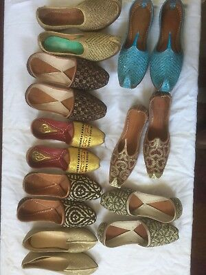 job lot Wholesale 140 pairs of Men / Boys Leather Khussa slippers RRP £15-£25