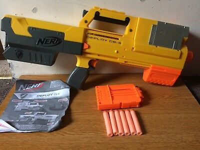Nerf N-Strike Deploy CS-6 Pump Action aToy Gun With 6 Darts + Instructions