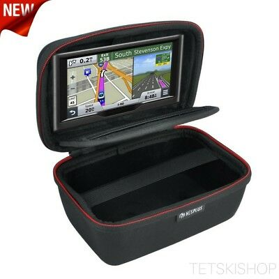 Navitech Leather GPS Satellite Navigation Carry Case Sleeve Pouch Compatible with The Garmin Nuvi 2595LMT