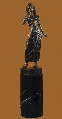 CLEOPATRA QUEEN OF EGYPT EGYPTIAN Handcrafted Bronze Sculpture Statue Figurine