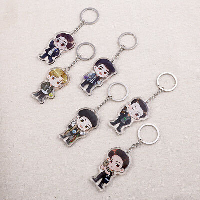 KPOP EXO THE WAR POWER Keychain Sehun Chen Epoxy Keyrings Kai Sohu Xiumin DO