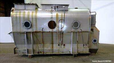 """Used-Scott Fluid Bed Dryer, Stainless Steel. Approximate 32"""" wide x 13' long, ap"""