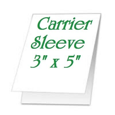 (2 -pk) Carrier Sleeve's For Laminating Laminator Pouches 3-5/8 x 5-5/8 Coated