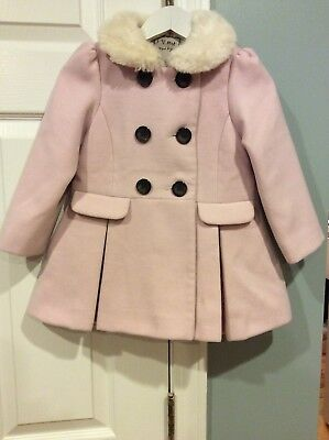"""Girl's Powder Pink Soft Coat from """"next"""" Size 2-3ys"""