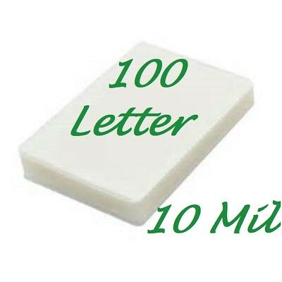 100 Letter Laminating Laminator Pouches Sheets 10 Mil 9 x 11-1/2 Scotch Quality