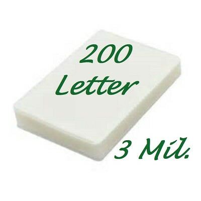 Letter Laminating Laminator Pouches Sheets 200 9 x 11-1/2 3 Mil Scotch Quality