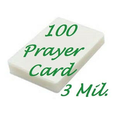 Prayer Card Laminating Pouches Sheets 100 3 Mil 2-3/4 x 4-1/2  Sleeve Gloss