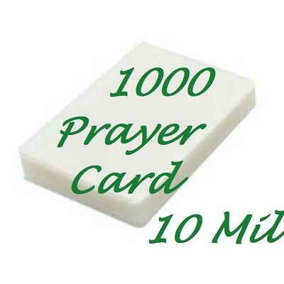 Prayer Card Laminating Pouches Sheets 1000 10 Mil 2-3/4 x 4-1/2  Sleeve's Gloss