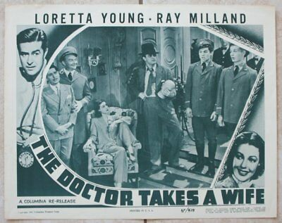 Lobby Card, Loretta Young & Ray Milland, The Doctor Takes a Wife (1947) rrr10511