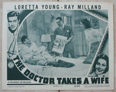 Lobby Card, Loretta Young & Ray Milland, The Doctor Takes a Wife (1947) rrr10510