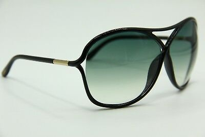 New Tom Ford Tf 184 01B Vicky Black Gradient Authentic Sunglasses 65-10 W/case!