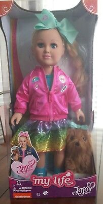 "My Life as Jojo Siwa 18"" Doll Plush Bow Bow Dog"