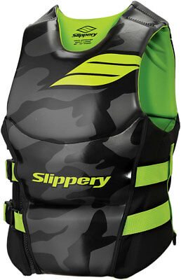 Slippery ARRAY Side Entry Neoprene Watercraft Vest/Life Jacket (Black/Green)