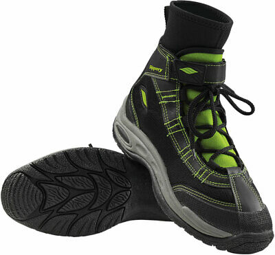 Slippery Wetsuits - LIQUID RACE Watercraft Water Boots (Black/Green) L (Large)