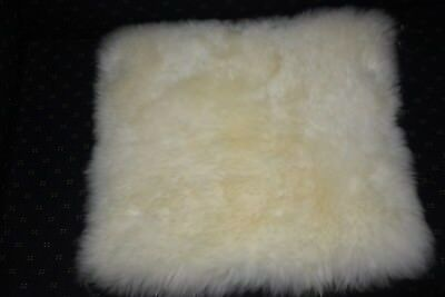 Infant white unshorn medical rug piece 50x45cm ideal for baby change table cot