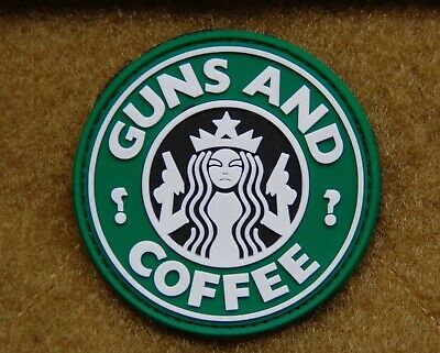 PVC Guns and Coffee Morale Patch Walking Dead Undead VELCRO® Brand Fastener