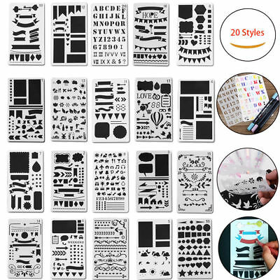 20style Bullet Journal Stencil Plastic Stencils Journal Notebook Diary Scrapbook