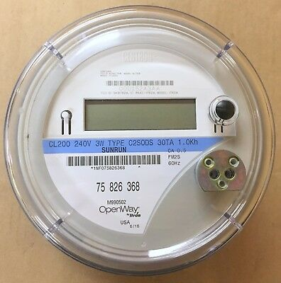 New Centron Cl200 240V 3W Open Way By Itron Electric Watthour Meter Type C2Sods