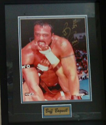 "Buff Bagwell WCW Wrestling Frame Signed Autograph 15"" x 11"" w/ Certificate"