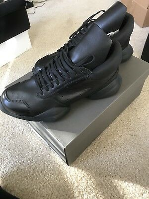 164ebf00e026 RICK OWENS x ADIDAS Black ro runner trainers sneakers shoes . US Size 10.5