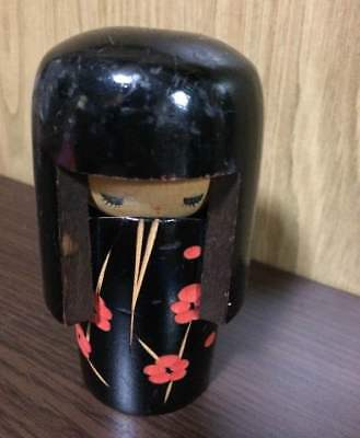 Antique kokeshi Japanese doll putting objects  popular beautiful cute EMS F/S!