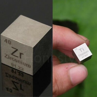 High Purity Zirconium Metal ZR Cube Titanium TI Carved Element Periodic Table