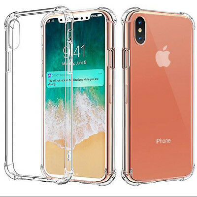 Luxury Glossy Clear Air Cushion Shockproof Armor Case Cover for iPhone X 8 Plus