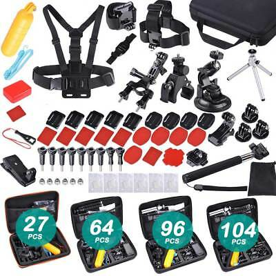 Accessories Pack Case Head Chest Monopod Bike Mount for GoPro Hero 7 6 5 4 3+ 2