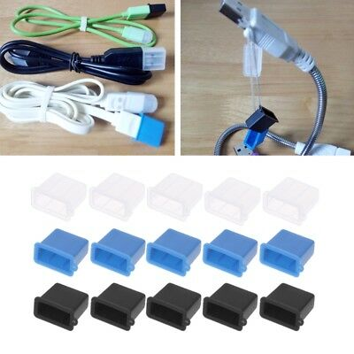 5Pcs USB Type A Male Anti-Dust Plug Stopper Cap Cover Protector