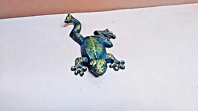1 Cast Iron Nautical Frog Towel Hook Hat Rack Sea Toad