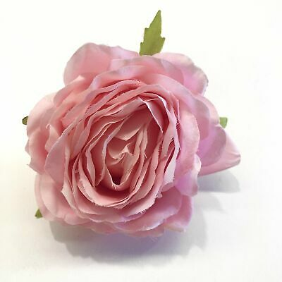 Artificial Silk Flower Head - Pink Rose Style 93 - 1pc