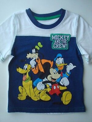 NWOT DISNEY'S MICKEY MOUSE CLUBHOUSE Mickey and the CREW T-Shirt Size 12 Months