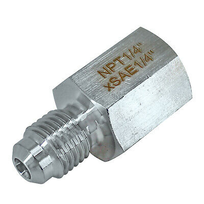 "HFS (R) Stainless Steel 304; Mech Pip; Adaptor, 1/4"" NPT female x 1/4"" sae male"