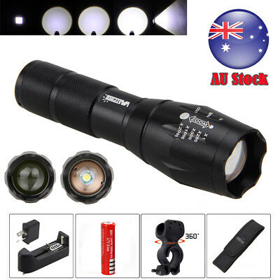 Zoomable Focus 20000lm XML T6 LED Hunting Torch Bike Front Mount Bicycle Light