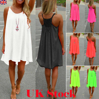 Womens Beachwear Beach Short Dress Bikini Cover Up Kaftan Ladies Mini Dress 6-22