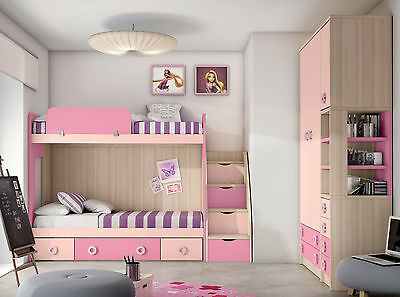 komplett kinderzimmer mit etagenbett leiter schubkasten. Black Bedroom Furniture Sets. Home Design Ideas