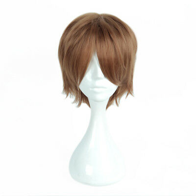 "Harry Potter Ron Weasley 14"" Short Brown Anime Cosplay Wig+Cap Heat Resistant"