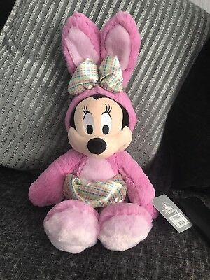 Official Disney Store Minnie Mouse Easter Bunny 2018 Soft Toy Plush BNWT