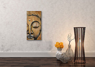 buddha bild wandbild malerei keilrahmen 3 teilig 120 cm buddhismus eur 129 00 picclick de. Black Bedroom Furniture Sets. Home Design Ideas