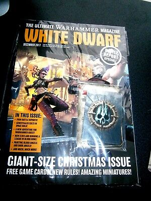 White Dwarf Magazine December Issue 2017 (new) With Free Game Cards