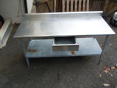 Stainless Steel Commercial Kitchen Work prep table With backsplash