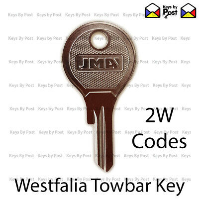 WESTFALIA DETACHABLE TOWBAR KEY (2W Codes) Spare Keys Fast shipping.