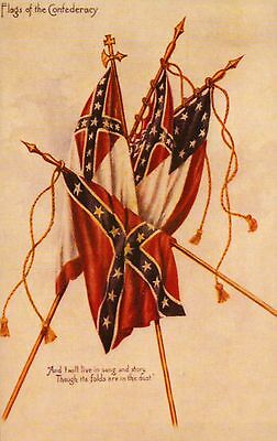 Flags of the Confederacy Postcard