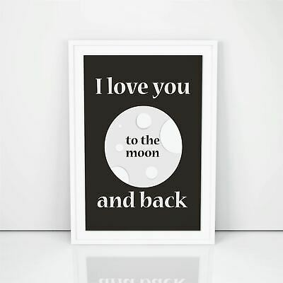 I Love You To The Moon And Back, Fashion Girl Poster, Bedroom Wall Decor