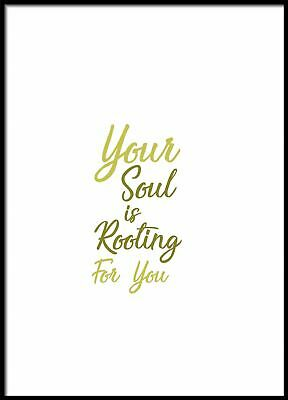 Your Soul Is Rooting For You, Kitchen Prints, Kitchen Wall Decor