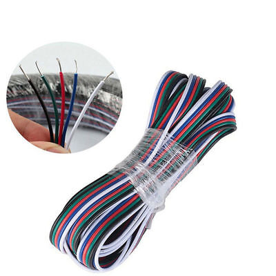 5 Pin RGBW Extension Cable LED Strip Light 5050 Adapter Cord Speaker Wire 22 AWG